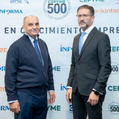 Entrega Oficial del SELLO CEPYME 500 en 2019.Las empresas seleccionadas forman parte de un conjunto selecto de 500 empresas medianas que lideran el crecimiento empresarial en España.